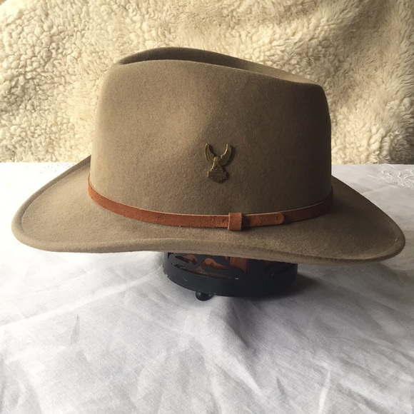 7467afdd Broner Accessories | Lite Felt Outback Hat W Harley Pin Xl | Poshmark